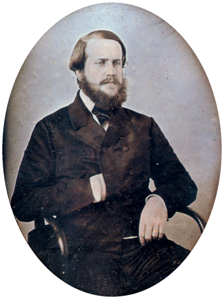 Pedro II around age 25, c.1851 Pedro II of Brazil 1851 edit.png