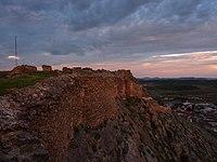 Penas de San Pedro - Hilltop Castle at Dusk - panoramio.jpg