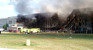 9/11 conspiracy theories - The Pentagon, after collapse of the damaged section