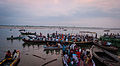 People observing Ganga Aarti from the boats, Dasaswamedh Ghat Varansai.jpg