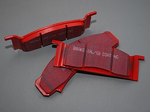English: A set of EBC performance disk brake pads