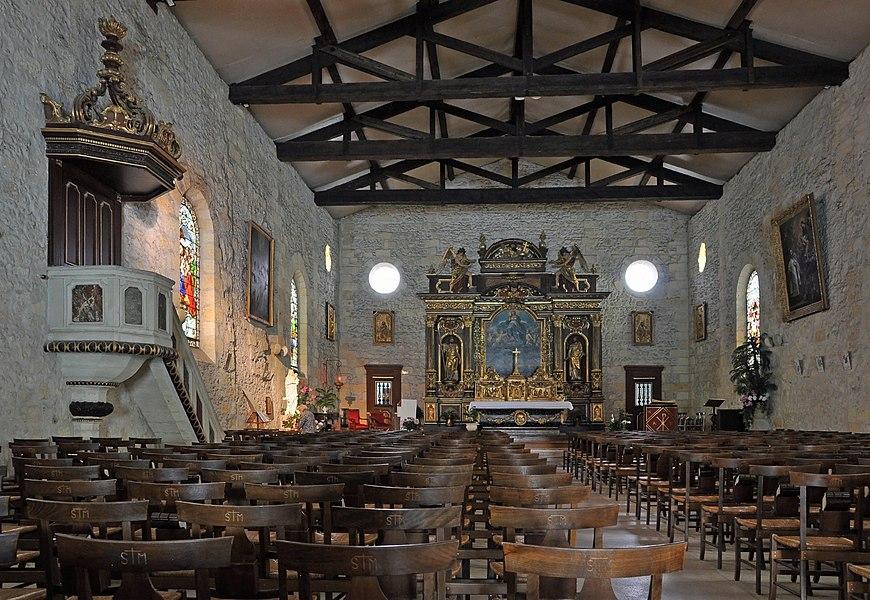 Pessac (Département de la Gironde, France): Saint-Martin church, interior