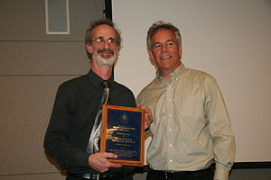 Peter Gleick - Peter Gleick receiving Lifetime Achievement Award from the Silicon Valley Water Conservation Awards
