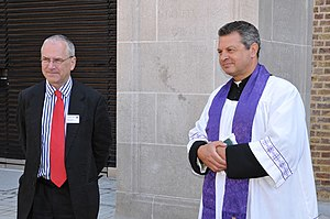 Peter Hendy - Transport for London's Commissioner, Peter Hendy and Revd James Westcott of St Chad's Church