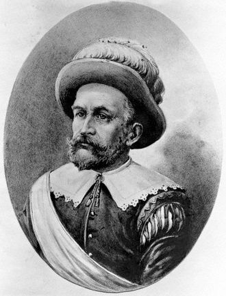 Peter Minuit, early 1600s Peter Minuit portrait New Amsterdam 1600s light.jpg