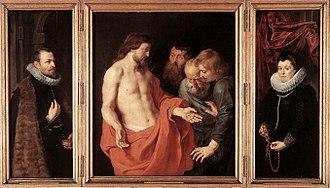 The Incredulity of Saint Thomas (Rubens) - Image: Peter Paul Rubens The Incredulity of St Thomas WGA20193