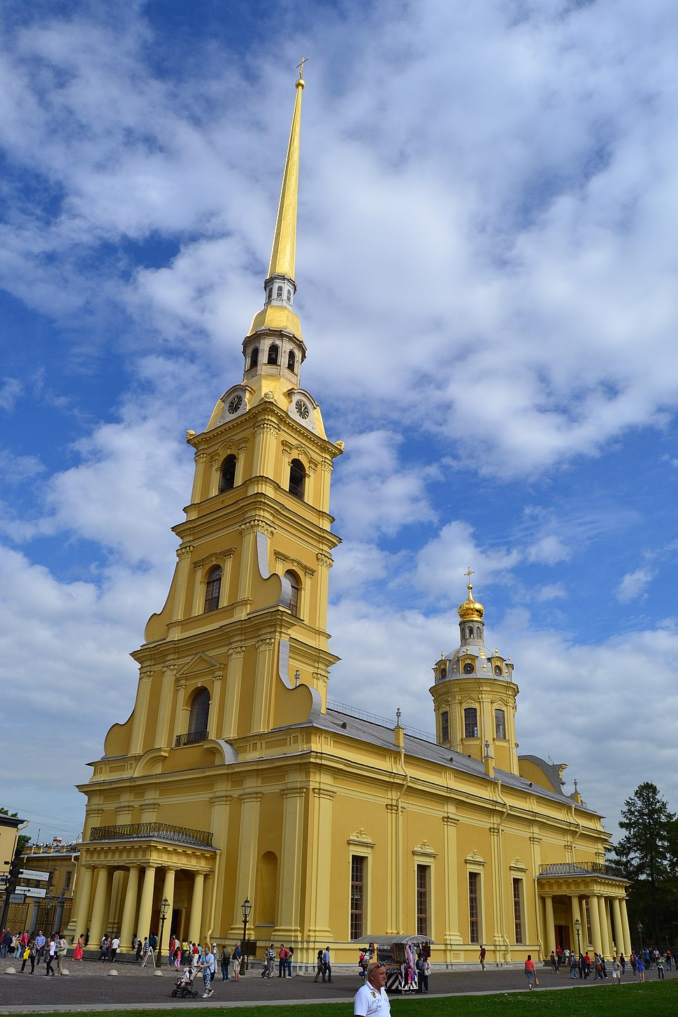 Peter and Paul Cathedral in Saint Petersburg full