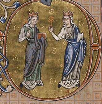 Mercy - Image: Peterborough Psalter c 1220 25 Mercy and Truth