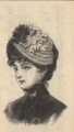 Peterson's Ladies National Magazine, June, 1883 - women's hat fashion 03.png