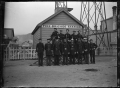 Petone fire-brigade station, with firemen, about 1901 ATLIB 272750.png