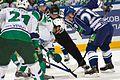 Petr Vrána vs. Alexander Svitov 2011-09-23 Amur—Salavat KHL-game.jpeg