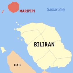 Map of Biliran with Maripipi highlighted