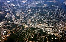View of Phenix City from a plane