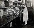 Philadelphia College of Pharmacy and Science; a woman making Wellcome V0029177.jpg