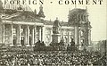 Philipp Scheidemann proclaiming the German Republic outside the Reichstag building in Berlin.jpg
