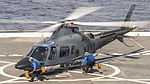 Philippine navy AW109 during flight operations aboard the USS Green Bay.jpg
