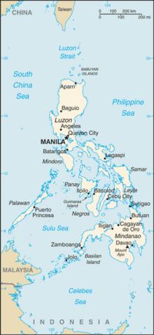 Mapa  República das Filipinas