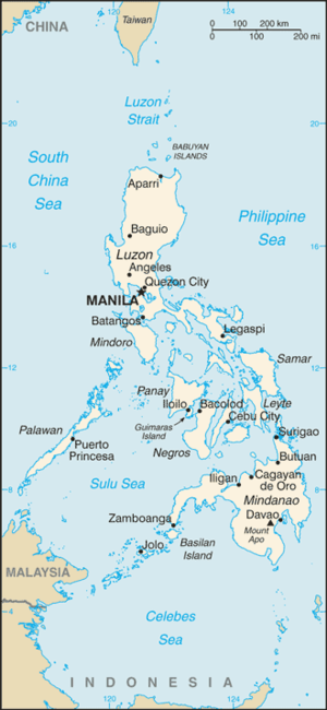 Outline of the Philippines - An enlargeable basic map of the Philippines