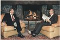 Photograph of President Reagan and General Secretary Gorbachev at the first Summit in Geneva - NARA - 198570.tif