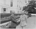 Photograph of President Truman shaking hands with Field Marshal Bernard Montgomery, Chief of the Imperial General... - NARA - 199419.tif