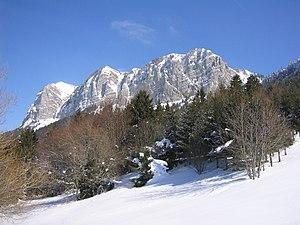 Thollon-les-Mémises - A view of the mountain of Mémises