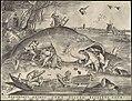 Pieter van der Heyden, after Pieter Bruegel Grandibvs exigvi svnt pisces piscibvs esca.jpg