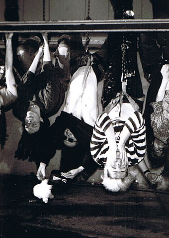 Pigface: Nivek Ogre (center) with Chris Connelly (left) and Martin Atkins Pigface 1991.jpg