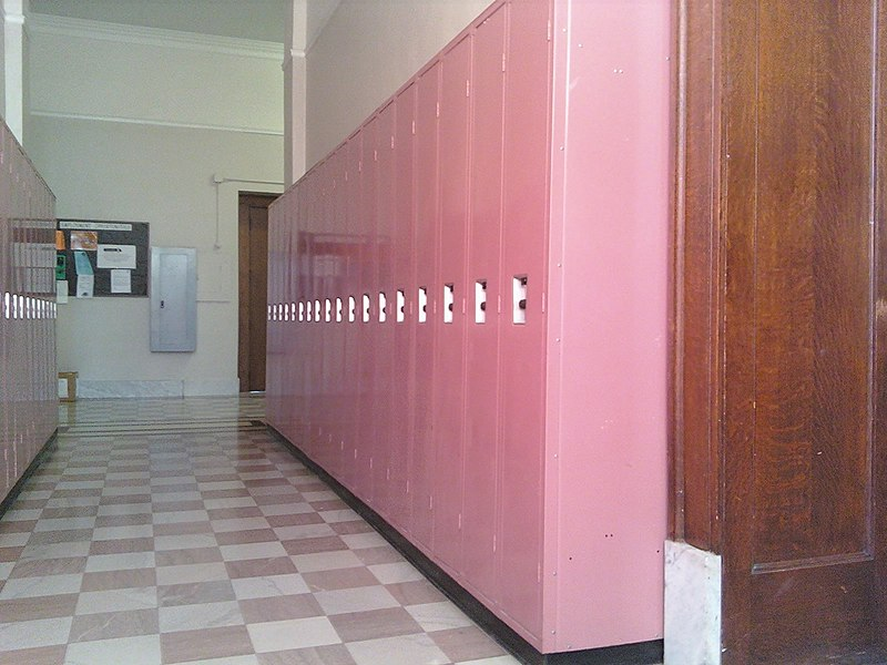 File:Pink lockers at Canton Central Catholic High School.jpg