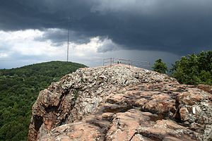 Pinnacle Rock (Connecticut) - The summit of Pinnacle Rock, with Rattlesnake Mountain in the distance