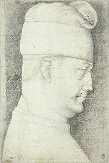 Philippe Marie Visconti dans le codex Vallardi de Pisanello.