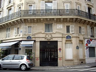 Nadia Boulanger - 36 rue Ballu, Paris