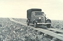 Plank road on St. George Island, Alaska, 1938.jpg