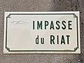 Plaque Impasse Riat - Solutré-Pouilly (FR71) - 2021-03-02 - 1.jpg