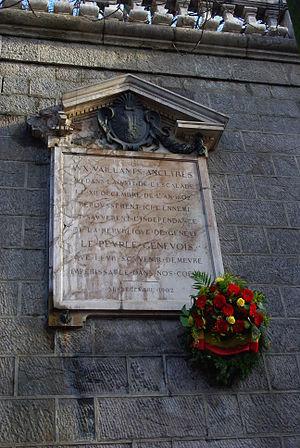 Compagnie de 1602 - Memorial (Corraterie)