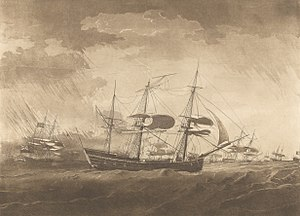Lady Juliana (1777 ship) - The Lady Juliana struck with Lightning in the Gulf of Mexico