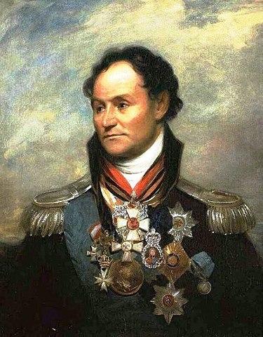 Прижизненный портрет М.И.Платова, написанный во время его пребывания в Лондоне (1814)
