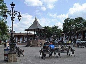 Santa Clara del Cobre - Plaza of Santa Clara del Cobre