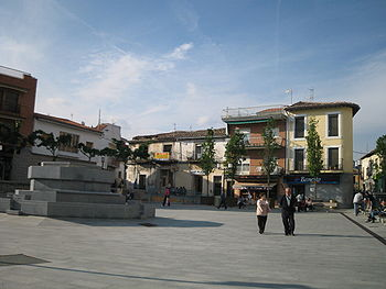 Vista norte de la Plaza de España.