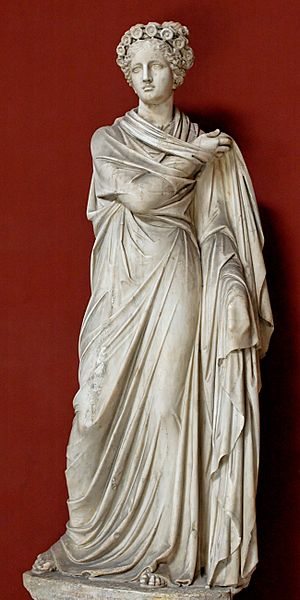 Polyhymnia, Muse of sacred song. Marble, Roman...