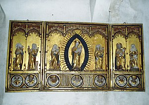 Fresta Church - Altarpiece, made c. 1480 in northern Germany