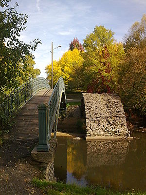 "Aixe-sur-Vienne - The vestige of the Malassert bridge, built in the 14th century, and called ""Roman Bridge"""