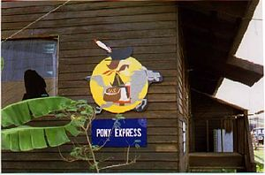 Operation Pony Express - Symbol of the Pony Express at the 20th HES, Udorn RTAFB, Thailand