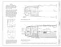Poop Deck Plan, Main Deck Plan - Schooner C.A. THAYER, Hyde Street Pier, San Francisco, San Francisco County, CA HAER CAL,38-SANFRA,199- (sheet 9 of 38).png