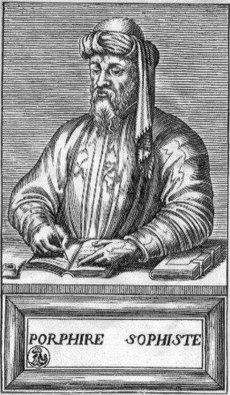 Porphyry (philosopher) - Porphire Sophiste, in a French 16th-century engraving