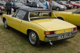 Porsche 914 - The distinctive rear of the Porsche 914