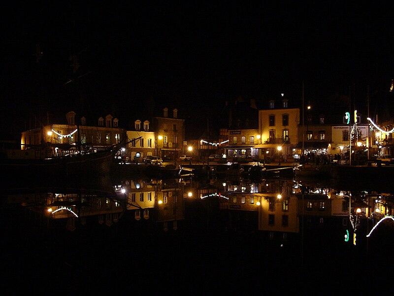 Quai Benjamin Franklin, in Auray, in the port of Saint-Goustan, Britain, France