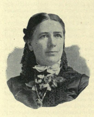 Laura de Force Gordon - Portrait from the official publication of her speech at the Columbian Exposition in 1892.