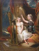 Portrait of Louisa Sharpe (1798-1843) and her sister Eliza Sharpe (1796-1874) by George Henry Harlow.jpg