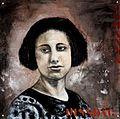 Portret van Johanna Slagter-Dingsdag (1985) door Gerda Roodenburg-Slagter.jpg