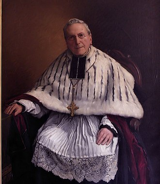 Canon (priest) - Kanunnik Petrus-Ludovicus Stillemans (1821–1902), brother of Antoon Stillemans Honorary canon of St Bavon Catedral, Flanders